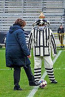 mascotte Eendracht Aalst pictured before a female soccer game between Eendracht Aalst and OHL on the 13 th matchday of the 2020 - 2021 season of Belgian Scooore Womens Super League , Saturday 6 th of February 2021  in Aalst , Belgium . PHOTO SPORTPIX.BE   SPP   STIJN AUDOOREN