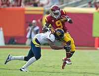 LOS ANGELES, CA - September 22, 2012:  USC wide receiver Marqise Lee (9) during the USC Trojans vs the Cal Bears at the Los Angeles Memorial Coliseum in Los Angeles, CA. Final score USC 27, Cal 9.