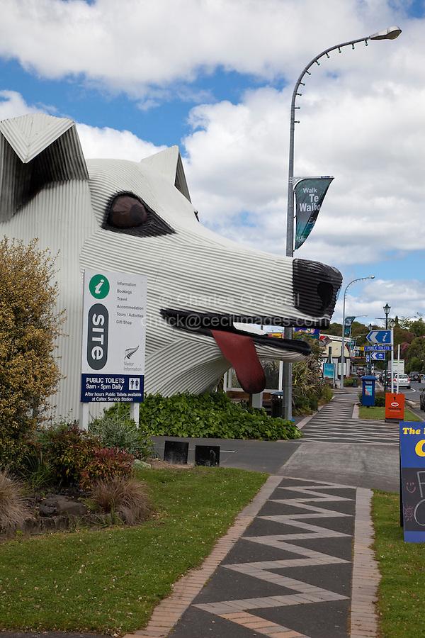 Tirau, New Zealand.  Street Scene, iSite, Government Tourist Information Office.