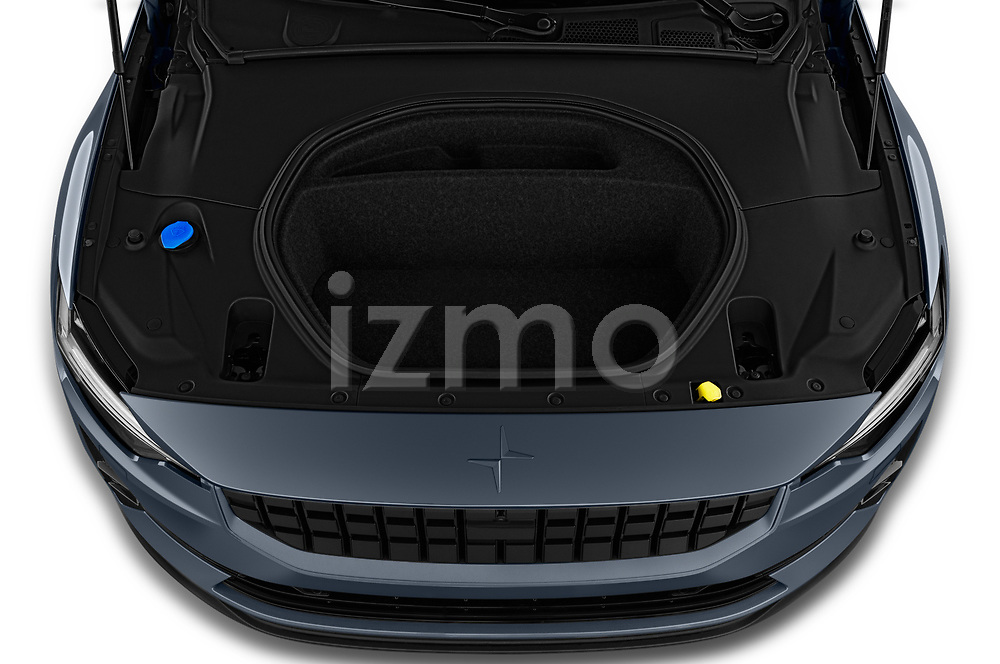 Car Stock 2020 Polestar Polestar-2 Pilot-Plus 5 Door Hatchback Engine  high angle detail view