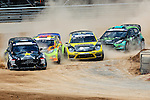 Rally Car drivers compete in the Rally Car event during the summer X-Games at the Circuit of the Americas race track in Austin, Texas.