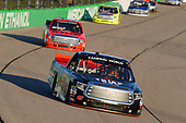 NASCAR Camping World Truck Series<br /> M&M's 200 presented by Casey's General Store<br /> Iowa Speedway, Newton, IA USA<br /> Friday 23 June 2017<br /> Jesse Little, Triad CNC Toyota Tundra and Grant Enfinger, Ride TV Toyota Tundra<br /> World Copyright: Russell LaBounty<br /> LAT Images