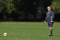 A Hackney & Leyton Sunday League referee waits for kick-off at Victoria Park - 14/09/08 - MANDATORY CREDIT: Gavin Ellis/TGSPHOTO - Self billing applies where appropriate - Tel: 0845 094 6026