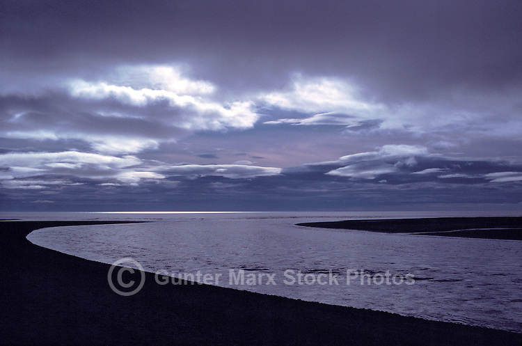 Haida Gwaii (Queen Charlotte Islands), Northern BC, British Columbia, Canada - Stormy Weather at Sunset, along McIntyre Bay, Naikoon Provincial Park, Graham Island