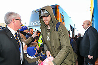 Leeds United's Pontus Jansson arrives at Elland Road<br /> <br /> Photographer Alex Dodd/CameraSport<br /> <br /> The EFL Sky Bet Championship - Leeds United v Norwich City - Saturday 2nd February 2019 - Elland Road - Leeds<br /> <br /> World Copyright © 2019 CameraSport. All rights reserved. 43 Linden Ave. Countesthorpe. Leicester. England. LE8 5PG - Tel: +44 (0) 116 277 4147 - admin@camerasport.com - www.camerasport.com