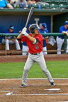 J.J. Franco (5) of the Great Falls Voyagers at bat against the Ogden Raptors in Pioneer League action at Lindquist Field on August 17, 2016 in Ogden, Utah. Ogden defeated Great Falls 5-2. (Stephen Smith/Four Seam Images)