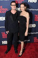 "NEW YORK CITY, NY, USA - MAY 12: Brad Pitt, Angelina Jolie at the New York Screening Of HBO's ""The Normal Heart"" held at the Ziegfeld Theater on May 12, 2014 in New York City, New York, United States. (Photo by Celebrity Monitor)"