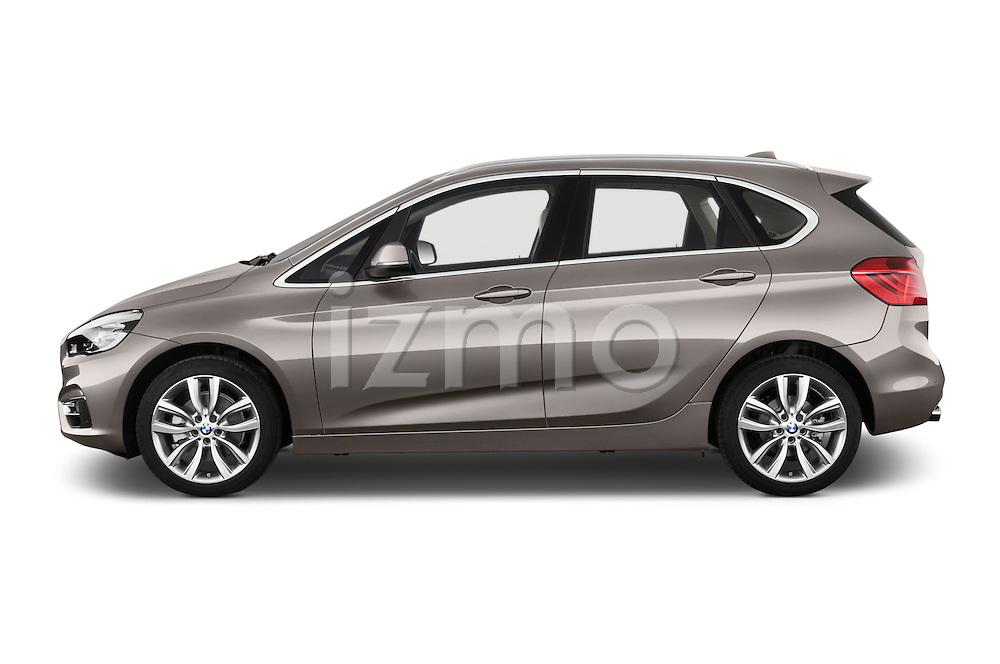 Car Driver side profile view of a 2015 BMW 2 Series 5 Door Mini MPV 2WD Side View