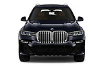 Car photography straight front view of a 2019 BMW X7 M-Sport 5 Door SUV Front View