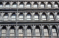 New York City: Haughwout Building 1857--upper facade. Photo '78.