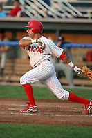 July 19th, 2007:  Will Groff of the Batavia Muckdogs, Short-Season Class-A affiliate of the St. Louis Cardinals at Dwyer Stadium in Batavia, NY.  Photo by:  Mike Janes/Four Seam Images