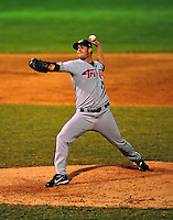 22 June 2009: Tri-City ValleyCats' pitcher Antonio Noguera on the mound against the Vermont Lake Monsters at Historic Centennial Field in Burlington, Vermont. The Lake Monsters defeated the visiting ValleyCats 5-4 in extra innings. Mandatory Photo Credit: Ed Wolfstein Photo