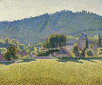 Signac,  Paul (1863-1935),  Comblat-le-Chⴥau. La Vall饠(Opus 163),  ֬ auf Leinwand,  46, 5x55,  Postimpressionismus,  1887,  Frankreich,  Privatsammlung.  | Signac,  Paul (1863-1935),  Comblat-le-Chⴥau. La Vall饠(Opus 163),  Oil on canvas,  46, 5x55,  Postimpressionism,  1887,  France,  Private Collection.   Credit: culture-images/fai  Persoenlichkeitsrechte werden nicht vertreten.  Verwendung / usage: weltweit / worldwide