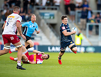 4th June 2021; AJ Bell Stadium, Salford, Lancashire, England; English Premiership Rugby, Sale Sharks versus Harlequins;  Ben Curry of Sale Sharks slips a Quins tackle