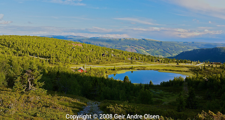 View of the Gudbrands vally from Venabygdsfjell in the Norwegian mountains