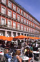Cafe in Plaza Mayor in Madrid, Spain