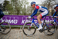 former Ronde champion Niki Terpstra (NED/Total - Direct Energie) up the Oude Kwaremont<br /> <br /> 105th Ronde van Vlaanderen 2021 (MEN1.UWT)<br /> <br /> 1 day race from Antwerp to Oudenaarde (BEL/264km) <br /> <br /> ©kramon