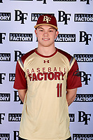 Allen Brown (11) of Loganville Christian Academy in Snellville, Georgia during the Baseball Factory All-America Pre-Season Tournament, powered by Under Armour, on January 12, 2018 at Sloan Park Complex in Mesa, Arizona.  (Mike Janes/Four Seam Images)