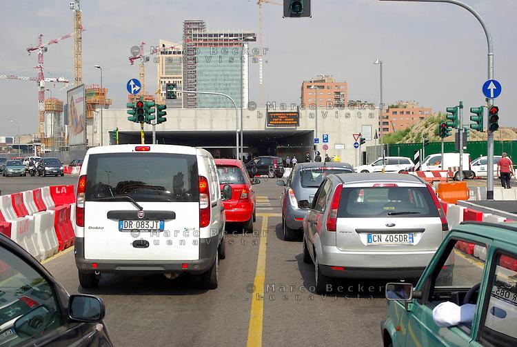 """milano, progetto di riqualificazione di porta nuova. tunnel porta nuova --- milan, requalification project for the """"porta nuova"""" area. porta nuova tunnel"""