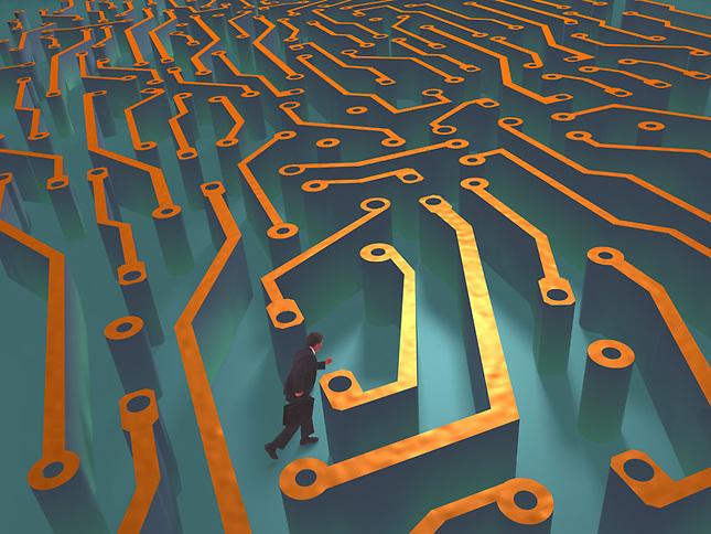 Man navigating Circuit maze