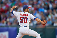 Buffalo Bisons relief pitcher Matt Dermody (50) delivers a pitch during a game against the Syracuse Chiefs on July 3, 2017 at Coca-Cola Field in Buffalo, New York.  Buffalo defeated Syracuse 6-2.  (Mike Janes/Four Seam Images)