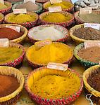 Spices at Marche (Market) de la Place Richelme, Aix-en-Provence, France
