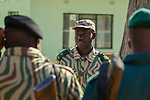Anti-poaching commander briefing his scouts before deployment, Kafue National Park, Zambia
