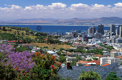 South Africa, Cape Town, view across city skyline