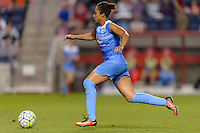 Chicago, IL - Saturday July 30, 2016: Samantha Johnson during a regular season National Women's Soccer League (NWSL) match between the Chicago Red Stars and FC Kansas City at Toyota Park.