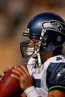 Nov. 6, 2005; Tempe, AZ, USA; Quarterback (15) Seneca Wallace of the Seattle Seahawks against the Arizona Cardinals at Sun Devil Stadium. Mandatory Credit: Mark J. Rebilas