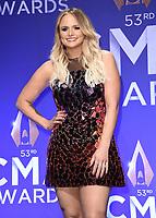 NASHVILLE, TN - NOVEMBER 13:  Miranda Lambert in the press room at the 53rd Annual CMA Awards at the Bridgestone Arena on November 13, 2019 in Nashville, Tennessee. (Photo by Scott Kirkland/PictureGroup)