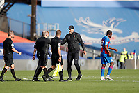 12th September 2020; Selhurst Park, London, England; English Premier League Football, Crystal Palace versus Southampton; Southampton Manager Ralph Hasenhuttl  approaches Referee John Moss after full time