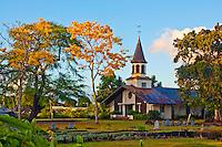 A view of Lili'uokalani Protestant Church in Haleiwa, North Shore, O'ahu.