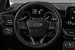 Car pictures of steering wheel view of a 2017 Ford Fiesta Titanium 3 Door Hatchback
