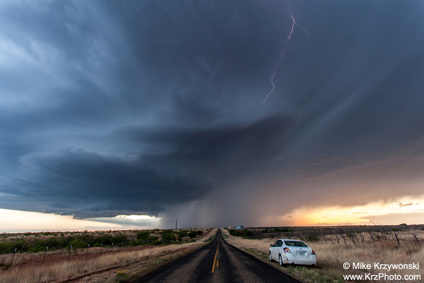 Supercell Thunderstorm near Spur, TX, May 9, 2013