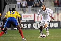 Jermaine Jones (15) of the United States (USA). The men's national teams of the United States (USA) and Colombia (COL) played to a 0-0 tie during an international friendly at PPL Park in Chester, PA, on October 12, 2010.