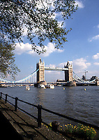 The Tower Bridge and River Thames. London, England.