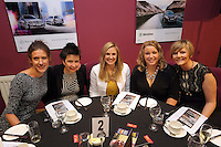 Pictured: Kate Rees (4th L) Thursday 08 April 2016<br />Re: Zimkids dinner at the Liberty Stadium, Swansea, UK
