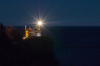 Each November, the beacon at Split Rock Lighthouse is lit in remembrance of the 29-member crew of the Edmund Fitzgerald and all mariners lost at sea. At 2:15 p.m. on November 9, 1975, the 729-foot Mighty Fitz departed Superior, WI with a load of taconite, bound for Detroit's Zug Island. She disappeared from radar at 7:15 p.m. on November 10 in a fierce Lake Superior storm, while battling 25 foot waves and hurricane force winds.