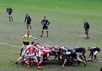 Photo: Richard Lane/Richard Lane Photography. Wasps v Ulster Rugby.  European Rugby Champions Cup. 21/01/2018. Rugby scrum.