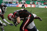 Trent Smith (Tight End Cologne Centurions) wird gestoppt