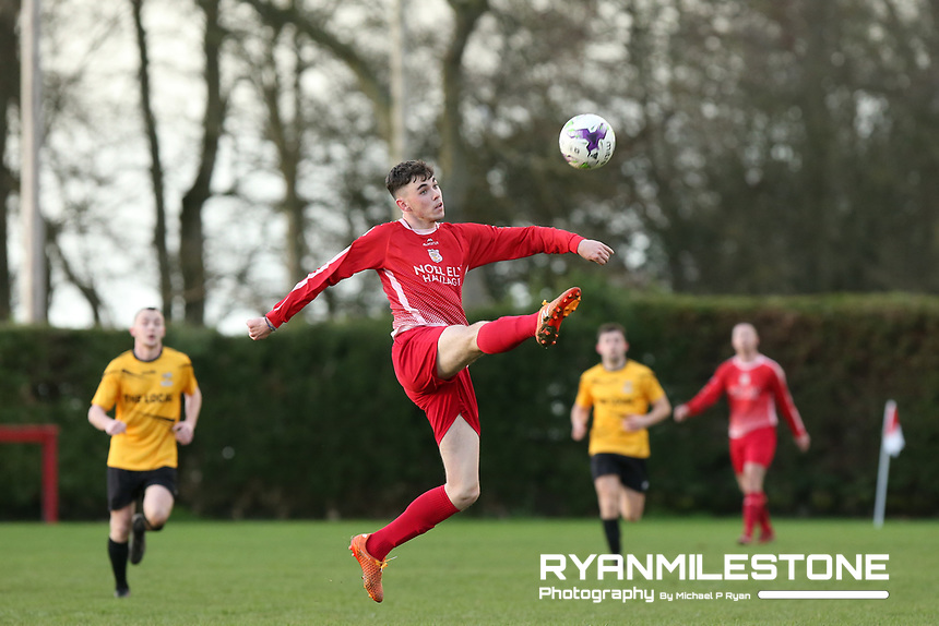 Keane Hayes of Two Mile Borris during the Tipperary Cup 1st Round game between Two Mile Borris and Clonmel Town  on Sunday 9th December 2018 at Newhill, Two Mile Borris Co Tipperary. Mandatory Credit: Michael P Ryan.