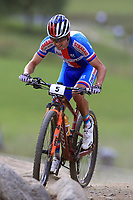 28th August 2021; Commezzadura, Trentino, Italy; 2021 Mountain Bike Cycling World Championships, Val di Sole;  Cross Country, Mens Olympic, Ondrej Cink (SLO)