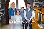 Brynn Fitzmaurice a student of Ardfert NS receiving her First Holy Communion on Saturday with her parents Marijke Gielssen and Austin Fitzmaurice and brother Roan.