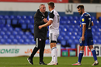 16th September 2020; Portman Road, Ipswich, Suffolk, England, English Football League Cup, Carabao Cup, Ipswich Town versus Fulham; Ipswich Town Manager Paul Lambert shakes hands with Tom Cairney of Fulham