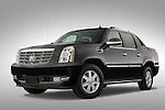 Low aggressive driver side front three quarter of a 2007 Cadillac Escalade EXT