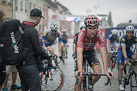 Tiesj Benoot (BEL/Lotto-Soudal) after finishing<br /> <br /> 12th Eneco Tour 2016 (UCI World Tour)<br /> Stage 7: Bornem › Geraardsbergen (198km)