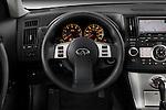Steering wheel detail of a 2008 Infiniti FX35 SUV