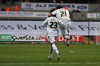 Pictured: Guillem Bauzà (left) and Federico Bessone (right) of Swansea City in action <br />