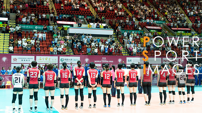 Japan players stabd during the FIVB Volleyball World Grand Prix - Hong Kong 2017 match between Japan and Serbia on 22 July 2017, in Hong Kong, China. Photo by Yu Chun Christopher Wong / Power Sport Images
